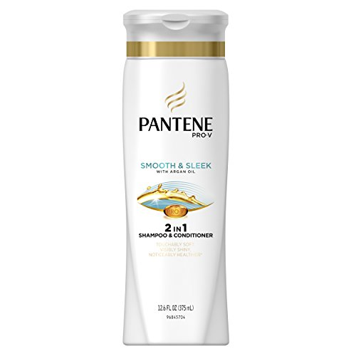 Pantene Pro-V Smooth 2-In-1 Shampoo & Conditioner 12.6 Fl Oz (Pack of 6) (packaging may vary)