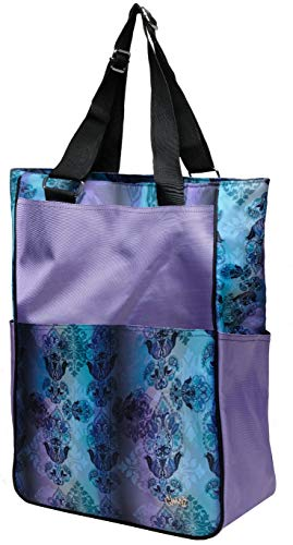 Glove It Women's Tennis Tote Bag Big Fashion Tote Bag for Women - Womens Large Tote Bags with Zipper & Shoulder Strap - 6 Outside Pockets - Ladies Sport Totes - 2019 Lilac Paisley