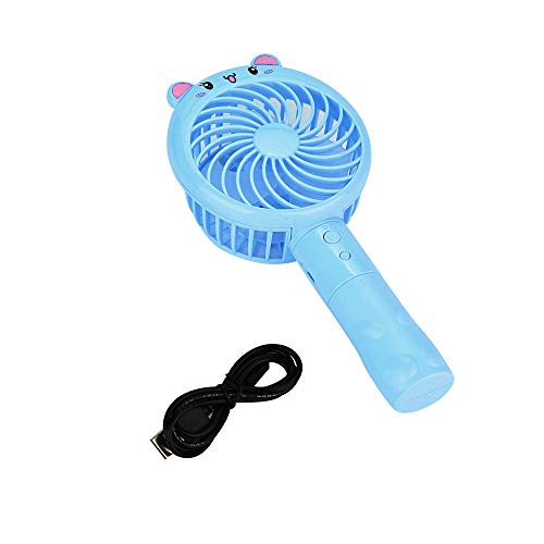 Yu2d  Portable Mini USB Hand-held Fan Cooler Rechargeable Air Conditioner(Blue) -