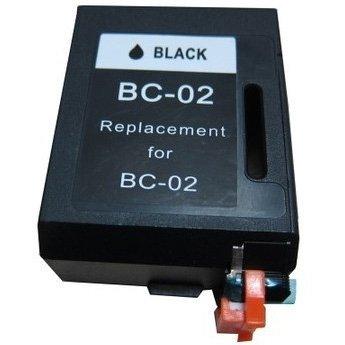 Bc02 Black Cartridge - Bulk BC-02, M8041 Canon Remanufactured Inkjet Cartridge, Black Ink: RBC02 (7 Inkjet Cartridges)