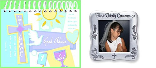 First Communion Frame and Good Advice Book