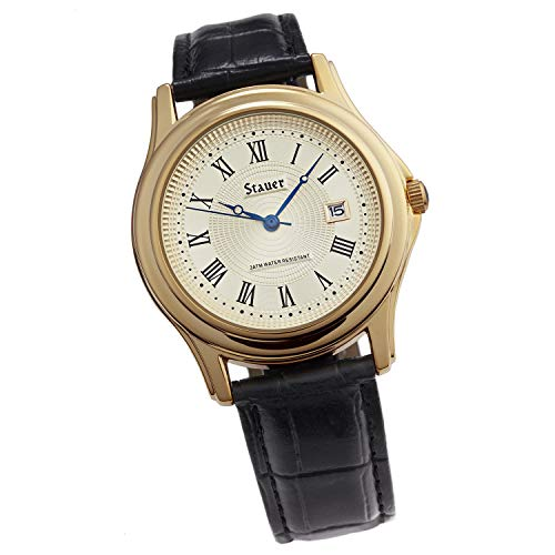 Stauer Men's Metropolitan Watch with Black Leather B
