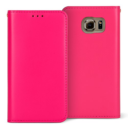 Slim Flip Cover for Samsung Galaxy S6 Edge (Hot Pink) - 9