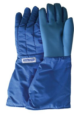 National Safety Apparel Large Blue SaferGrip 15'' Mid-Arm Length Waterproof Cryogenic Gloves