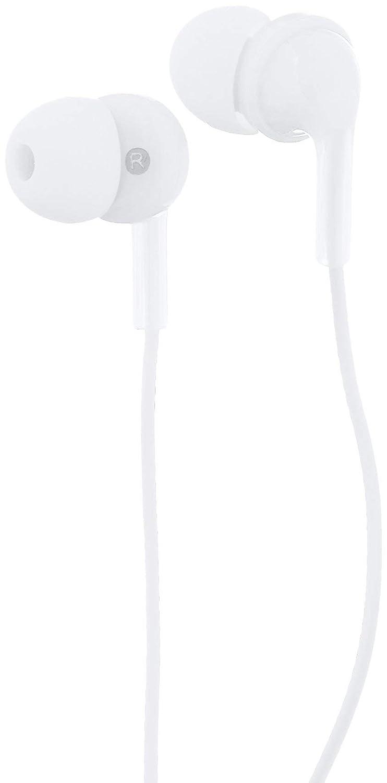 AmazonBasics in-Ear Headphones with Mic - White