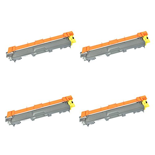 KCMYTONER 4 Pack Compatible for Brother Standard Yield Toner Cartridge TN221YL TN221 TN-221 Yellow Work with HL-3170CDW MFC-9130CW MFC-9330CDW HL-3140CW HL-3180CDW MFC-9340CDW Laser Printer