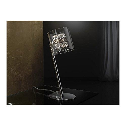 Schuller Spain 391329I4L Modern, Art Deco Chrome Open Glass Table Lamp 1 Light Living Room, bed room, Study, Bedroom LED, Open Glass Shade Chrome table lamp | ideas4lighting by Schuller