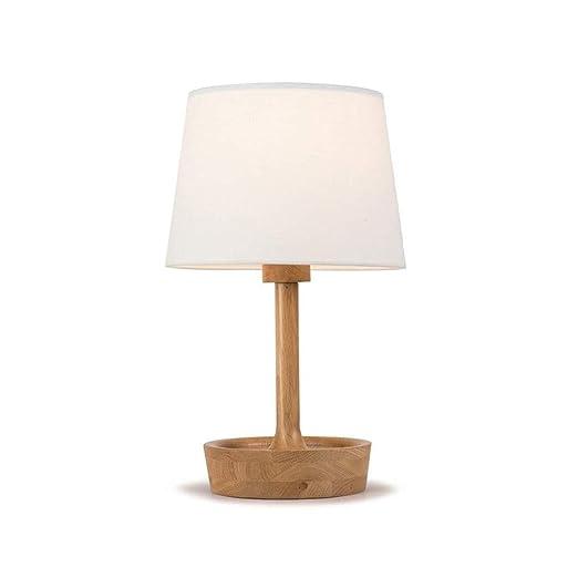 Madera de de con de Pantalla Mesa Escritorio lámpara Lámpara dxroCeWB