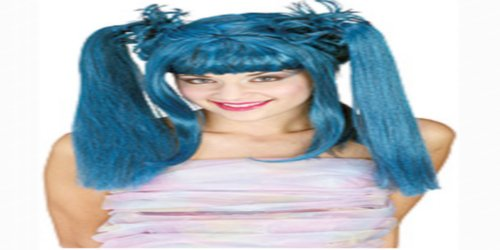 [Rubie's Costume Punk Diva Wig, Blue, One Size] (Punk Fairy Costumes)