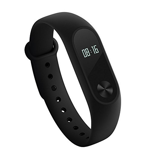 Xiaomi Mi Band 2 Fitness Activity Tracker Smart Bracelet Heart Rate Monitor Bluetooth 4.0 Pedometer Sleep Monitor Sport Wristband Smartwatch IP67 Waterproof for Android and IOS [Global Version] by Xiaomi