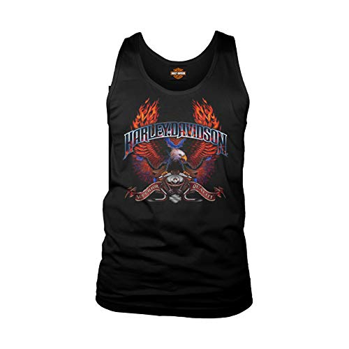 Harley-Davidson Military - Men's Black Eagle Graphic Tank Top - Camp Lemonnier | Wings of Fire 2X - Harley Davidson Black Tank