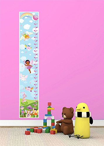 MAGIC GARDEN FARIES FAIRY GIRLS BEDRROM NURSERY CANVAS HEIGHT CHART - Next Day Royal Mail Guaranteed