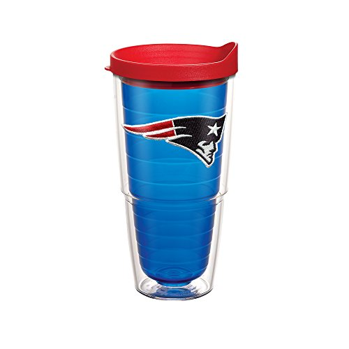 Tervis NFL New England Patriots Primary Logo 24oz Blue Tumbler with Red - Companies Sports New