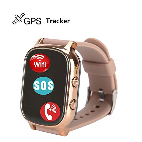 Hangang GPS Tracker For Kids Children Smart Watch Kids Wrist Watch T58 Anti-lost SOS Call Location Finder Remote Monitor Pedometer Functions Parent Control iPhone Android Smartphones APP (gold)(T58G) by Hangang (Image #7)