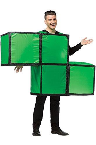Tetris Green Costumes (Rasta Imposta Unisex Tetris Tetrimino, Green/Black Trim, One Size)