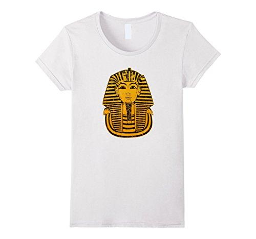 Womens King Tut Egyptian Pharaoh Mummy T-Shirt Large White