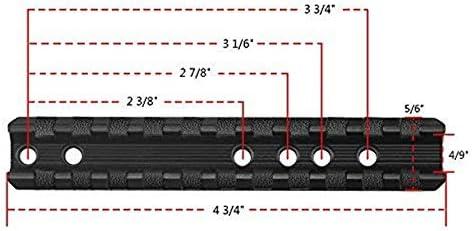 NO-LOGO Lixia-Scope Tactical 11 Slots Picatinny//Weber-Schienen-Bereich-Einfassung gepasst for Marlin Lever Action Mit Schl/üssel Gewehr Fu/ßmontage Jagdgewehr-Zusatz