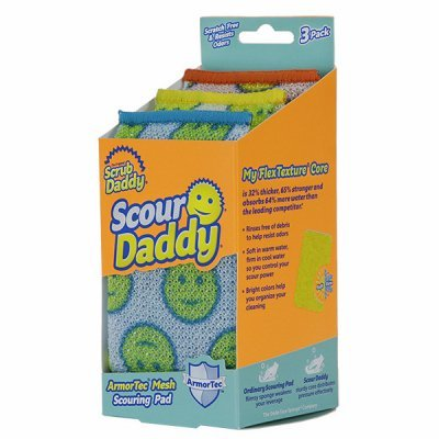 Scrub Daddy - Scour Daddy Scouring Pad with ArmorTec Mesh - Pack of 6