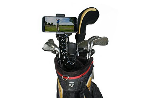 Golf Gadgets - Swing Recording System | Jaws Clamp & Gooseneck Mount for Smartphone. Compatible with iPhones, Samsung Galaxy, HTC, ANY Phone, etc. (Jaws Clamp) by Golf Gadgets