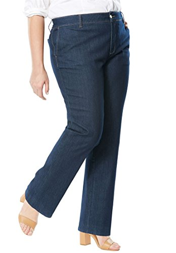 Jessica London Women's Plus Size Denim Trouser Indigo,22 (Poly Womens Trousers)