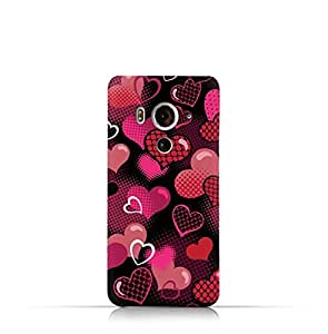 HTC Butterfly 3 TPU Silicone Case With Valentine Hearts seamless Pattern