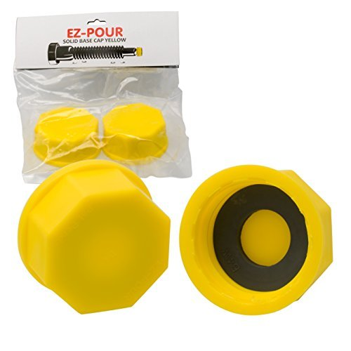 - EZ-Pour Gas Can Cap - Solid Base Replacement Gas Tank Cap (Coarse Thread)