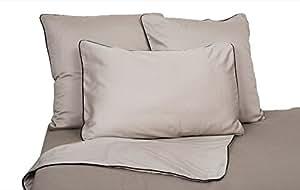 Funda de almohada ePure 63x 63Cáñamo/negro