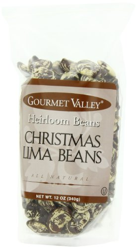 Gourmet Valley Heirloom Beans Christmas Lima Beans, 12-Ounce Pouches (Pack of 6)