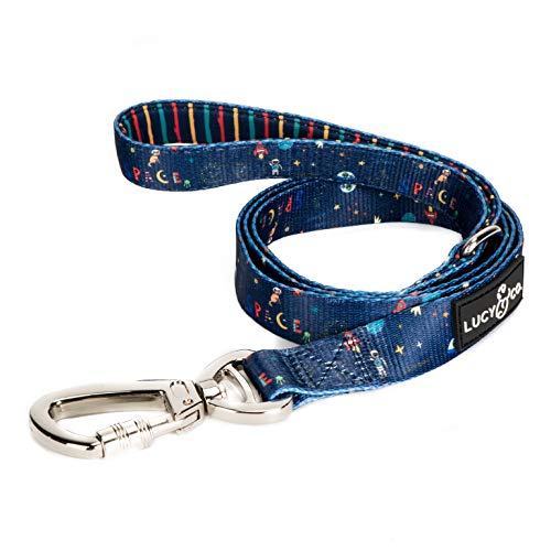 Lucy & Co. 5 Foot Dog Leash – Best Designer Dog Leashes – Leash for Big Dogs, Small Dog Leash, or Medium Dog Leash – Puppy Leash – Dog Accessories – Dog Supplies – All Dog's Breeds