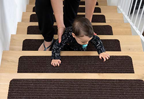 EdenProducts Non Slip Carpet Stair Treads, Set of 15, Rug Non Skid Runner for Grip and Beauty. Safety Slip Resistant for Kids, Elders, and Dogs. 8