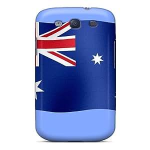 Tpu ScoDBke Shockproof Scratcheproof Australian Flag Australia Day Hard Case Cover For Galaxy S3