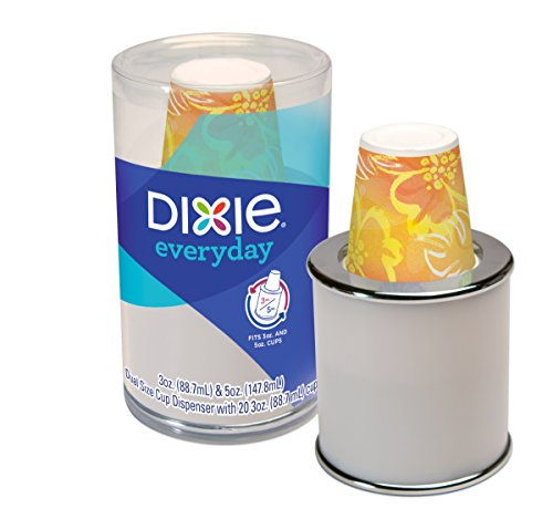 Dixie Disposable Paper Cup Dispenser, For 3 Ounce or 5 Ounce Bath Cups ()