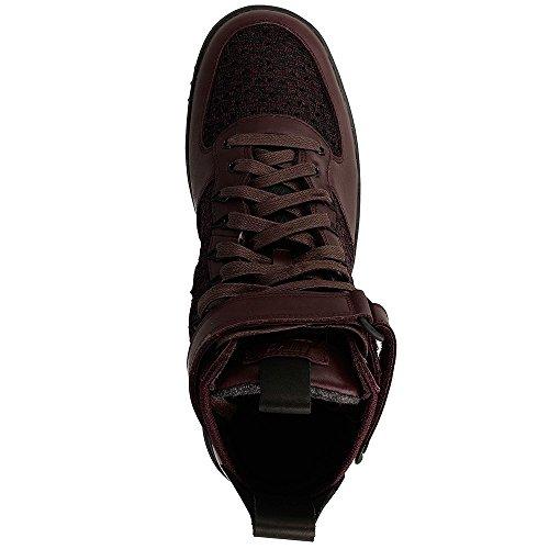 Nike Lunar Force 1 Stivaletti Da Uomo Flyknit Workboot C_855984 Bordeaux / Nero