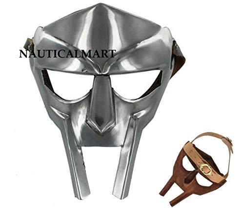 NAUTICALMART MF Doom Rapper Madvillain Gladiator Face Mask Silver One Size