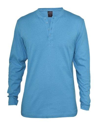 """Urban : """"Basic Henley L/S Tee"""" Size: M, Color: turquoise …TB276"""