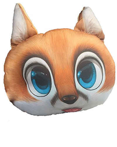 Pingstore Car Headrest 3D Cartoon Animal Cute Soft Pillow Pet Husky/Cat/Akita/Fox Neck Hold Plush pillow