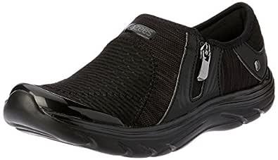 Bzees Women's ath lesiure Casual Comfort Shoe Balance, Black/Black, 5