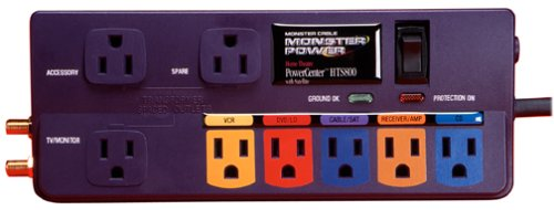 Monster Cable PowerCenter HTS 800, 8 Outlet Surge Suppressor: Amazon.es: Electrónica