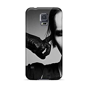 Anti-Scratch Hard Phone Cases For Samsung Galaxy S5 (SQK12897XEfM) Custom Nice Marilyn Manson Band Skin