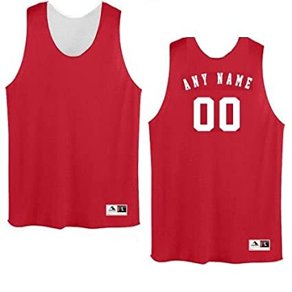 00fa0702955c Amazon.com  Augusta Sportswear CUSTOM Basketball Reversible (Both Sides Any  Name Number) Tricot Mesh Polyester Tank Jersey Shirts (8 Colors  Youth Adult)   ...
