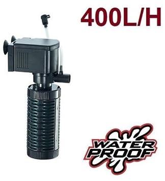 RESTAR Filtro bomba para acuario pecera oxigenador de agua sumergible 400 L/H 3 en 1: Amazon.es: Productos para mascotas