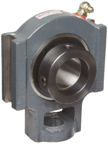 Browning VTWE-222 Ball Bearing Take-Up Unit, Eccentric Lock, Non-Expansion, Regreasable, Contact and Flinger Seal, Cast Iron, Inch, 1-3/8
