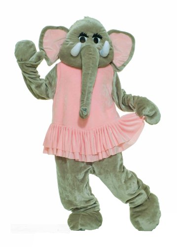 Mascot Costumes (Forum Deluxe Plush Elephant Mascot Tutu, Pink/Gray, One Size Costume)