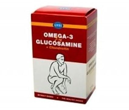 Omega-3 + Glucosamina + Condroitina 30 cápsulas más 60 comprimidos de Lysi