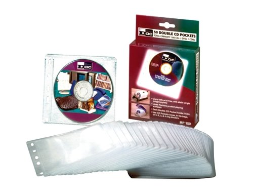 - DAC MP-150 Double-Sided CD Pockets, Pack of 50