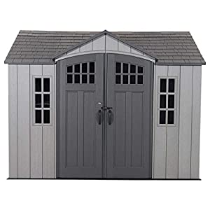 Lockable Outdoor Storage Shed by Lifetime (Ten ft. by Eight ft.)