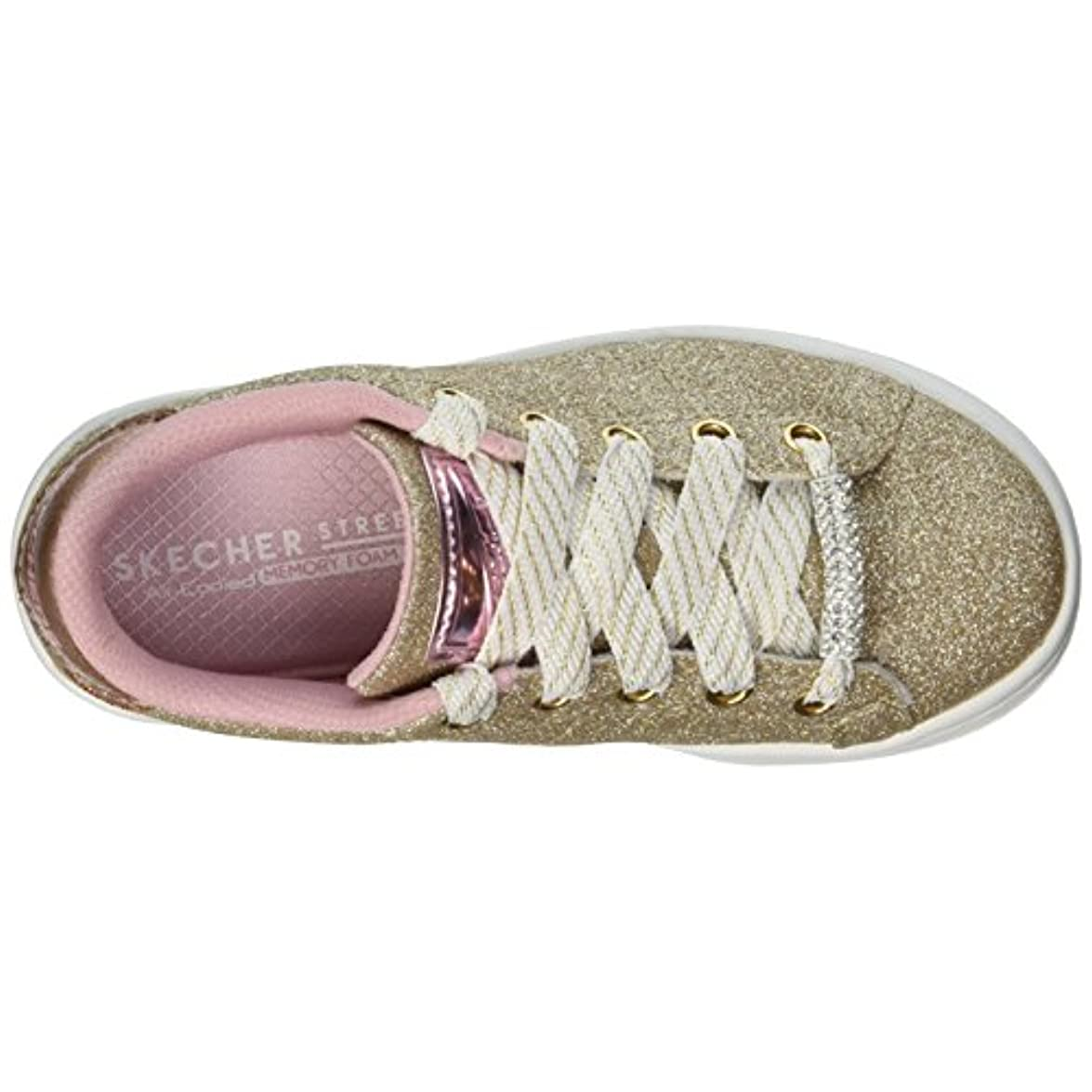 Skechers Scarpe Sneakers Omne Shimmer Street Lace Up Donna 84460l-gold