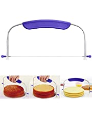 10 Inch Adjustable Cake Cutter Wire Cake Leveler Stainless Steel Cake Slicer with Purple Handle