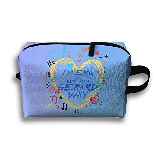 Travel Makeup Handbag I'm Emo But In A Gerard Way Cosmetic Case Organizer Bag