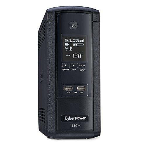 CyberPower BRG850AVRLCD UPS 850VA/510W 10 Outlets AVR LCD USB Ports Mini Tower